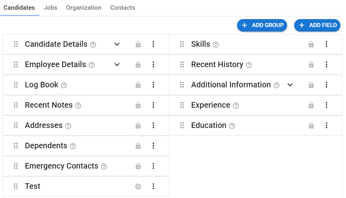 Customizable Fields and Views