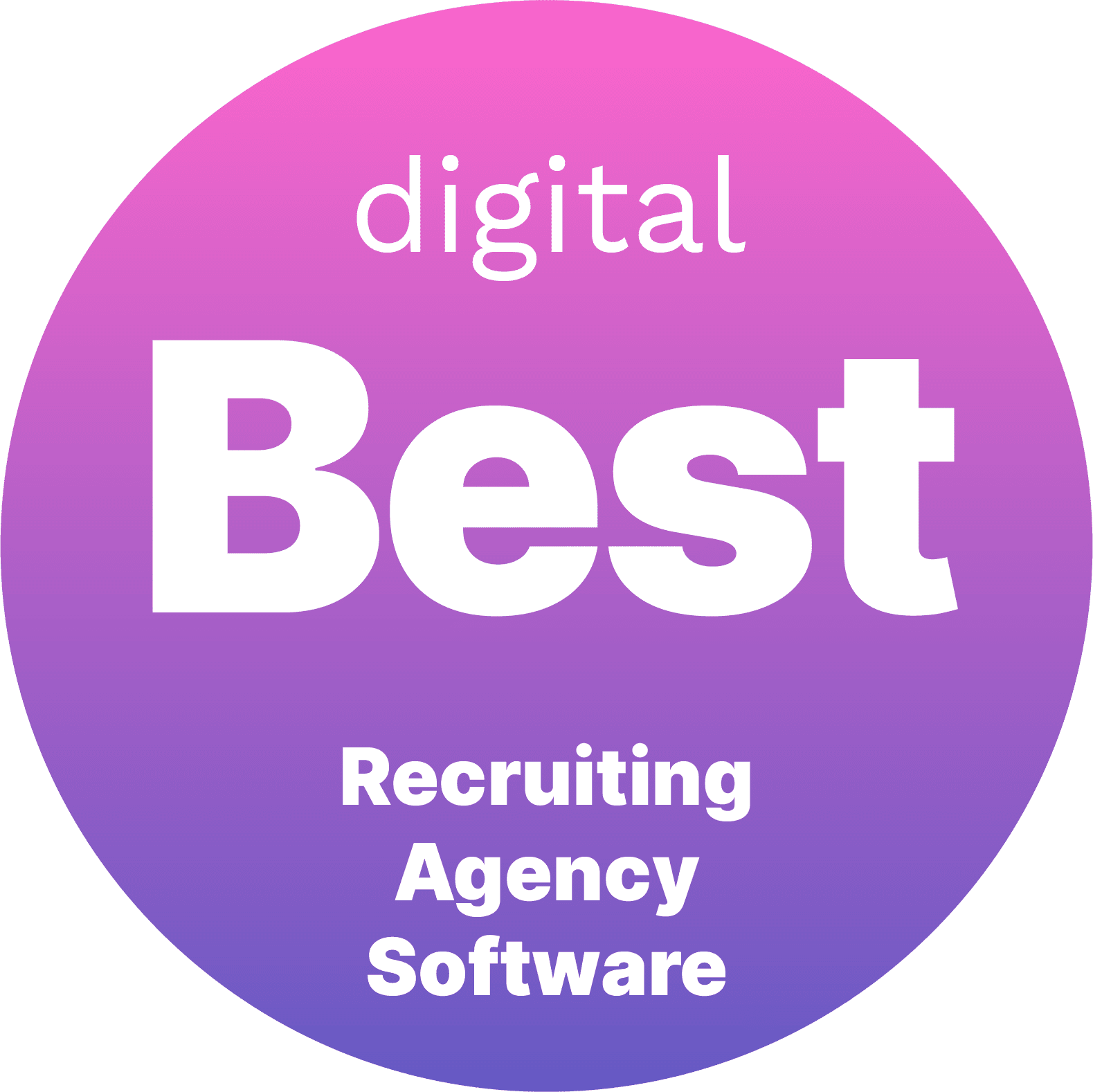 Best Recruiting Agency Software Award